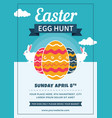 easter egg hunt flyer with eggs and rabbits vector image