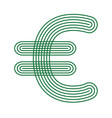 euro currency icon stripe symbol vector image