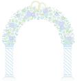 floral wedding arc vector image vector image