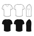 Front back and side views of blank t-shirt vector image