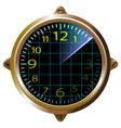 futuristic clock yellow apparatus radar gauge vector image