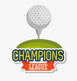 golf sport champions league icons vector image