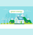 Green energy with a house solar