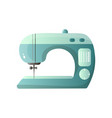 green model sewing machine with different options vector image