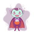 halloween little vampire dracula boy kid with vector image vector image
