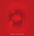 halloween party roughen octagon silhouette banner vector image vector image
