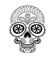 hand drawn skull in entangle style tribal totem vector image vector image