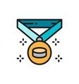 hockey champion medal winner award trophy flat vector image
