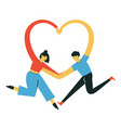 isolated with cartoon adult couple man vector image