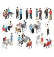 job interview respondents set
