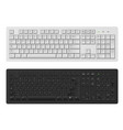 keyboard white and black keyboard for personal vector image
