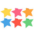 Label template with stars in six colors vector image vector image