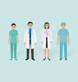 medical staff group male and female doctors vector image