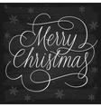 Merry Christmas greetings slogan on chalkboard vector image vector image