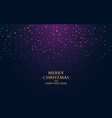 merry christmas night happy new year banner vector image