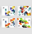 minimal square mosaic cover design templates vector image vector image