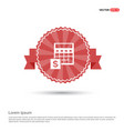 money from atm icon - red ribbon banner vector image