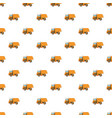 orange dump truck pattern vector image vector image