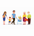 people at supermarket buying products men and vector image vector image