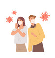 people in face masks fight with virus epidemic vector image vector image
