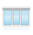 plastic window with rolling shutters 05 vector image vector image