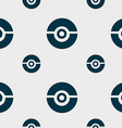 pokeball icon sign Seamless pattern with geometric vector image vector image