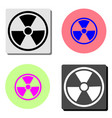 radiation flat icon vector image