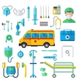 Resuscitation symbols vector image