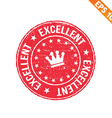 Rubber stamp excellent - - EPS10 vector image