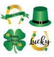 saint patricks day gradient icons with gold vector image vector image