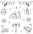 Set Eid Mubarak doodle vector image