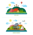 set flat design ecology background vector image vector image