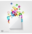 Shopping bag icon Application buttonSocial media vector image vector image