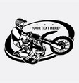 simple motocross logo design vector image vector image
