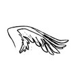 Spread out pegasus bird or angel wing