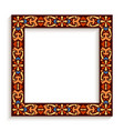 square frame with ornamental pattern vector image