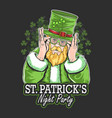 st patricks day night party artwork with vector image vector image