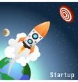 Startup Rocket Concept vector image