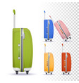 suitcases with roller system vector image vector image