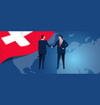 switzerland swiss international partnership vector image vector image