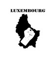 symbol of luxembourg and map vector image