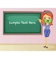 Teacher teaching lesson vector image vector image