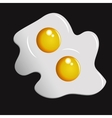 Two fried eggs vector image vector image