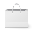 White shopping paper bag isolated on white vector image vector image