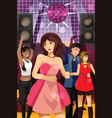 young people dancing in a club vector image vector image
