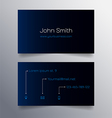 Business card template - blue and black design vector image