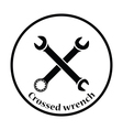 Icon of crossed wrench vector image