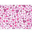 seamless pattern with hearts and an ornament vector image