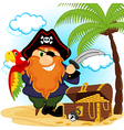 pirate with parrot vector image