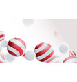 3d compositions with christmas balls ornaments vector image vector image